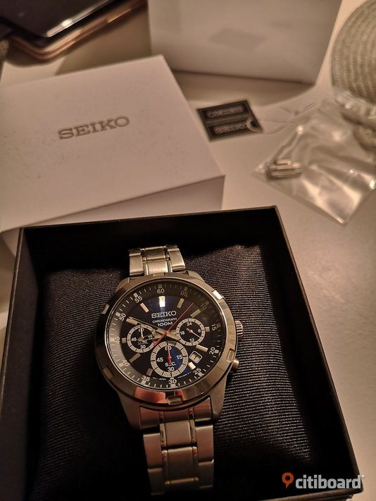 Seiko gent chronograph 44mm Södermanland Flen