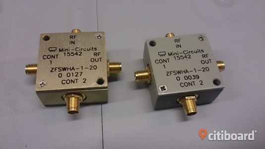 RF Switch Mini-Circuits ZFSWHA-1-20, DC-2 GHz, SPST Övrigt Kumla