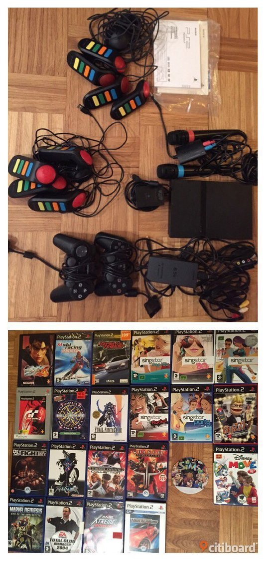Playstation 2, Singstar, Buzz, Eye Toy