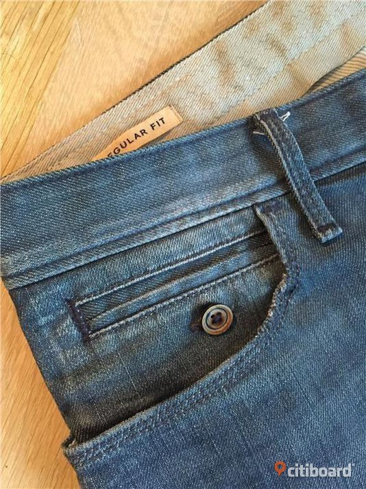 HUGO BOSS Orange Label Jeans, Regular/Slim (36/34) Midja 34-36 tum Mode Stockholm Stockholm