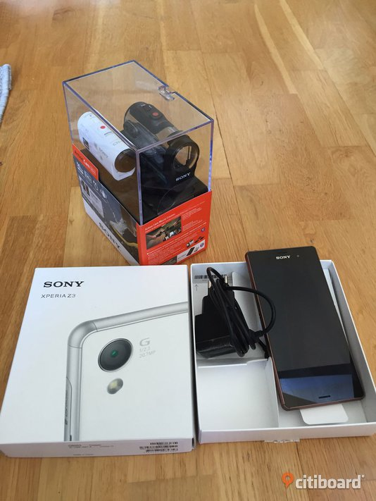 Experia z3 plus sony action cam Stockholm