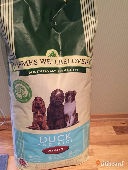 James wellbeloved duck and rice 15 kg