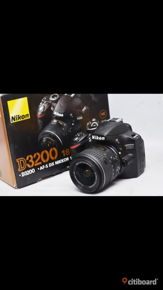 Nikon D3200 24.2 MP CMOS Digital SLR with 18-55mm   Video  Recording Stockholm Sollentuna
