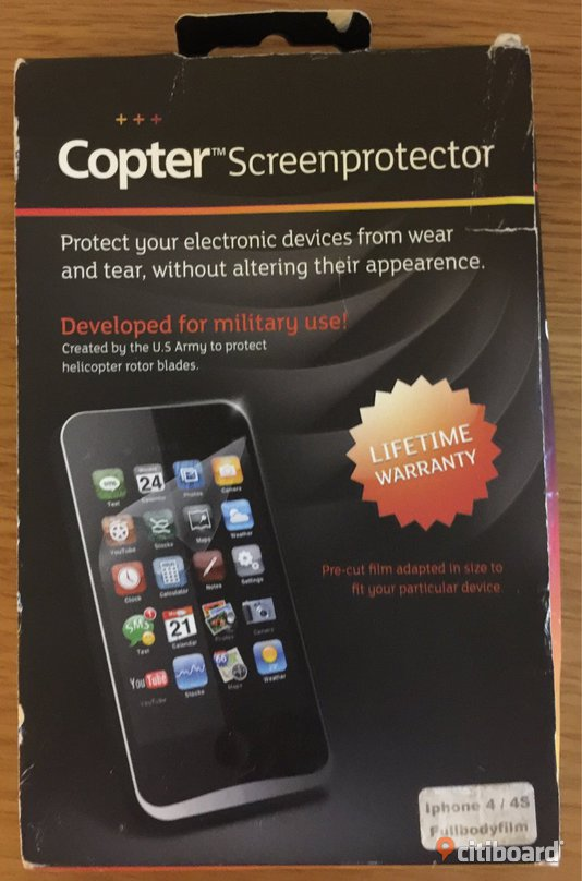 Copter Screenprotector  Iphone 4/4S  Ny Malmö
