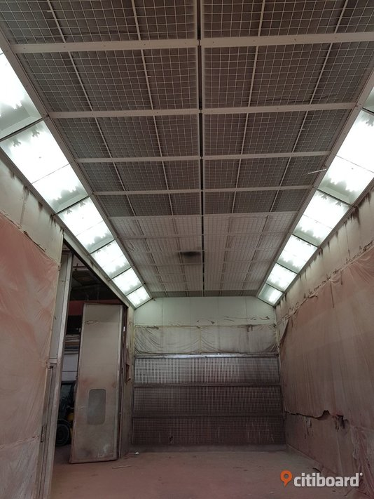 Used paint booth size 12x5x5 meters (n.6) Stockholm
