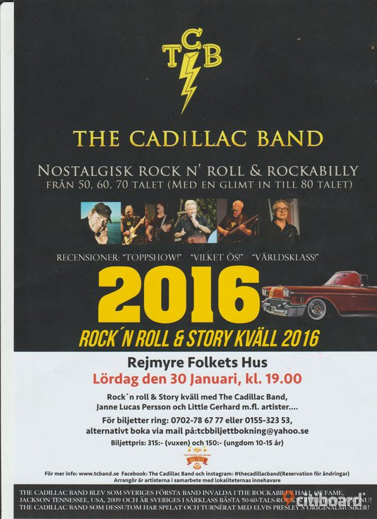 The Cadillac Band, Rock´n Roll och Rockabilly Nostalgishow.