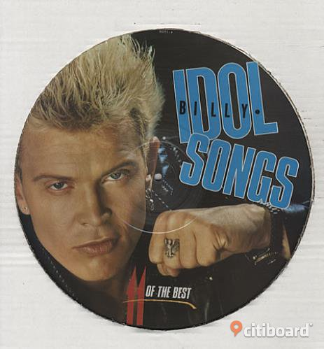 Billy Idol Songs 11 of the best (picture disc) very rare Vinyl Lp Stockholm Huddinge