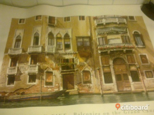 Tavelposter 70x100 cm Venedig Jonathan Pike Balconies on the grand canal Ulricehamn