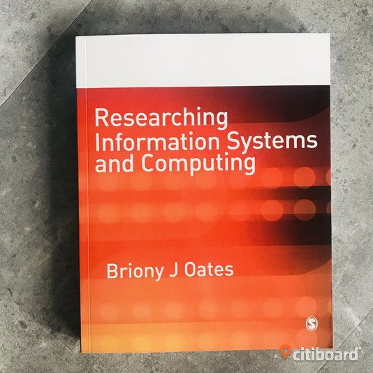 Researching Information Systems and Computing av Briony J Oates ISBN: 9781412902243 Ludvika Sälj