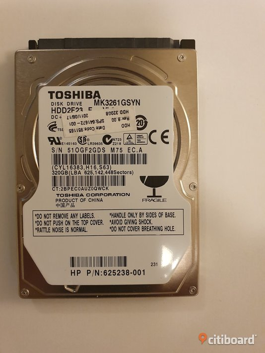 LAPTOP HARD DRIVE  320GB Stockholm