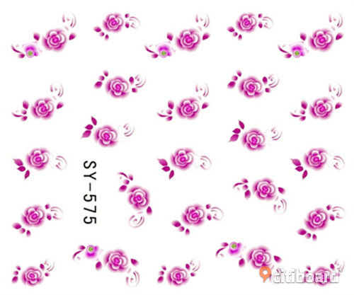NYTT! 4 ARK Nageldekorationer / 3D Water Transfer Nail Art Stickers 575-578 Strömsund