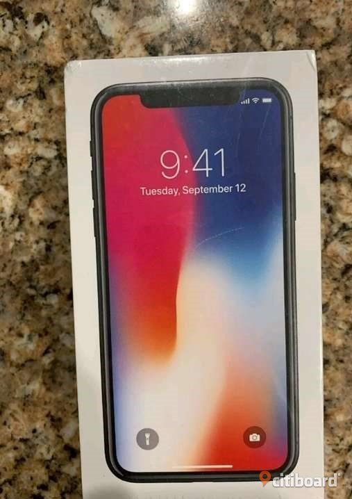 IPhone X 256gb ny oöppnad spacegreay  Lycksele Sälj