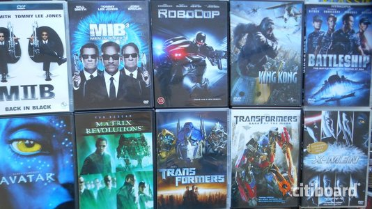 DVD FILM ACTION PAKET Stockholm Sollentuna