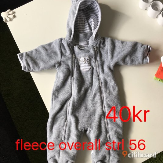Fleece overall  50/56 (0-2 mån) Lomma