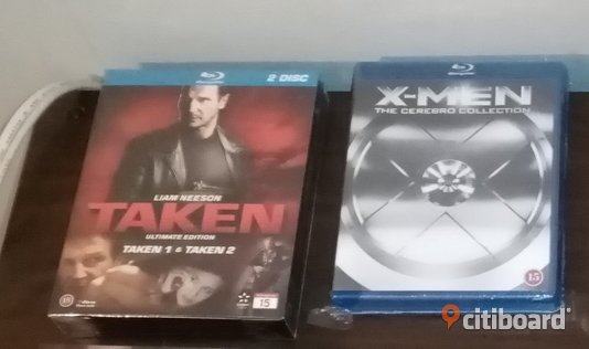 X-Men & Taken 1&2 Bluray Stockholm Sälj