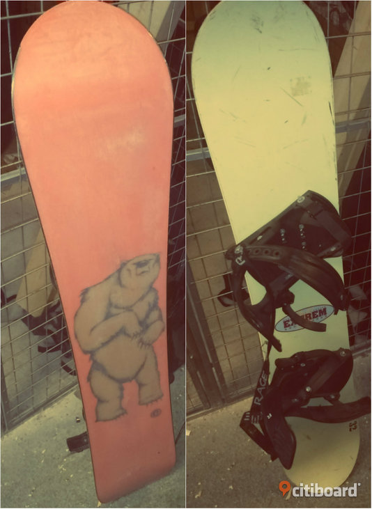 200 kr Snowboard (130 cm) EXTREM with boots made in France