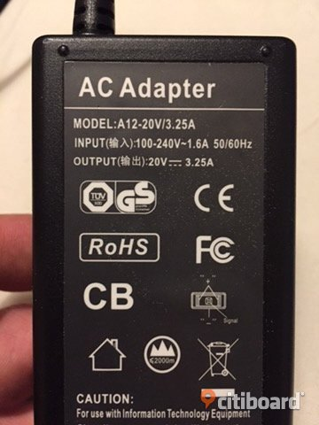 AC adapter - laddare för lenovo thinkpad Köping
