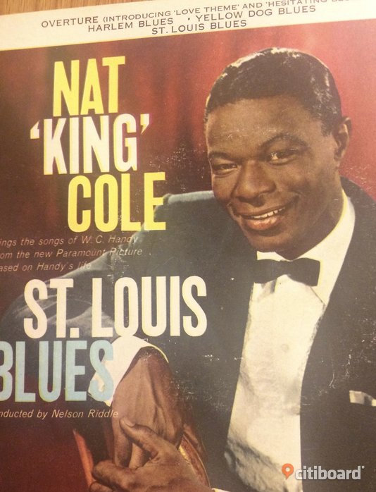 EP Vinyl Nat King Cole St. Louise Blues Skåne Ystad Sälj