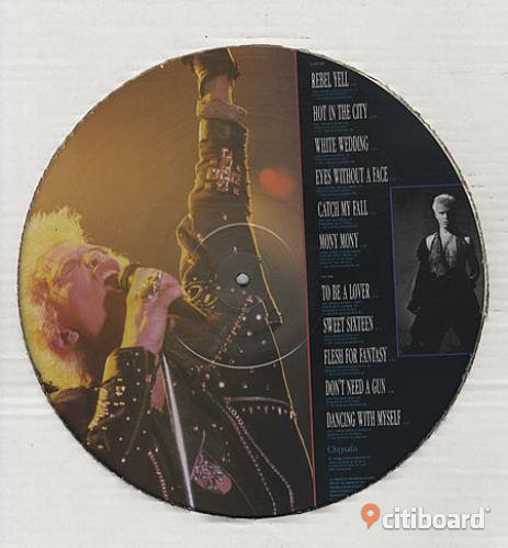 Billy Idol Songs 11 of the best (picture disc) very rare Vinyl Lp Huddinge Sälj