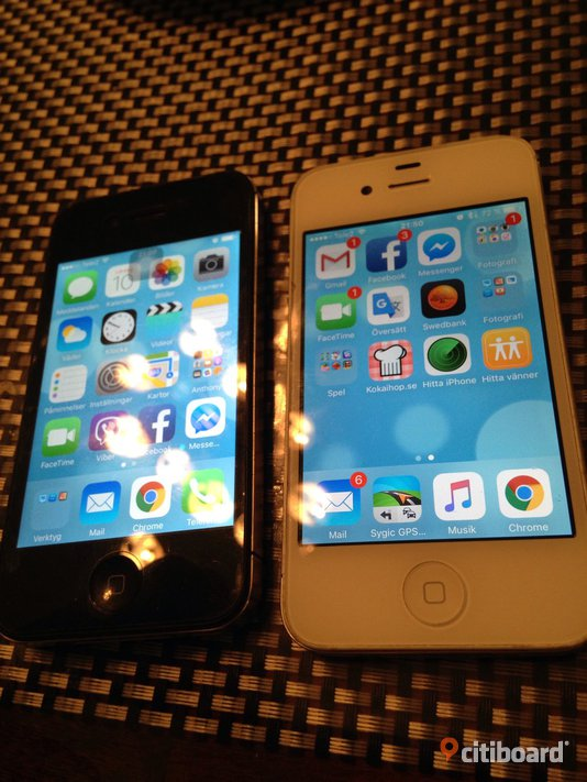 2st Iphone 4s 16gb olåst