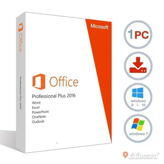 Microsoft Office 2016 Professional Plus för 1 pc / laptop Göteborg