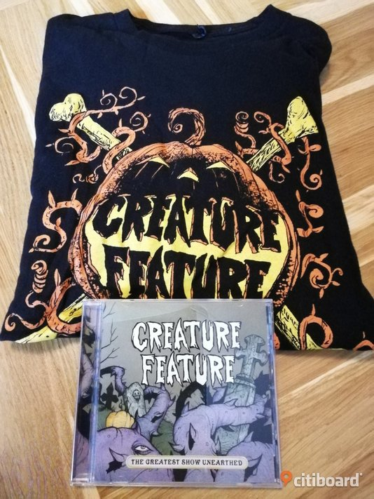 Creature Feature CD-Skiva + T-Shirt Musik, Film & Spel Kungälv