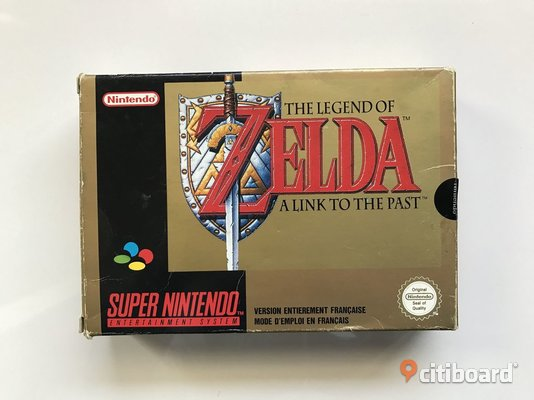 The legend of Zelda a link to the past orginal samt i  obrukat skick. Örebro