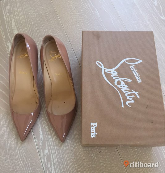 Christian Louboutin pigalle 85 patent calf Nude stl 40 Vellinge