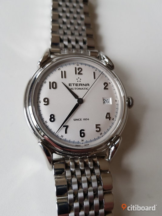 ETERNA Heritage 1948 • Twenty Five Jewels • Swiss Made • Automatic • Sapphire Crystal • Stainless Steel • Automatiskt • Safirglas Östergötland Mjölby