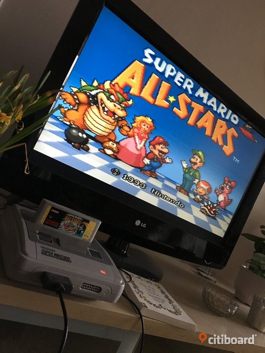 Super nintendo med super mario all stars och donkey kong country 3 Stockholm