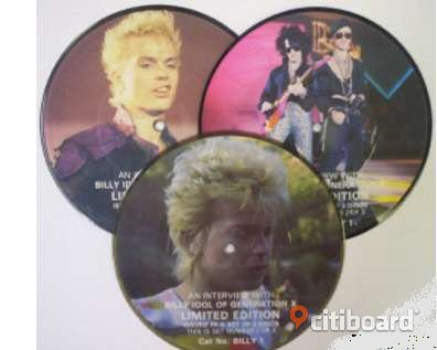 Billy Idol, Interview, MINT CONDITION Rare set of THREE picture discs Musik, Film & Spel Huddinge