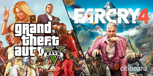 GTA V + Far Cry 4 Gold Edition (PS4) Stockholm