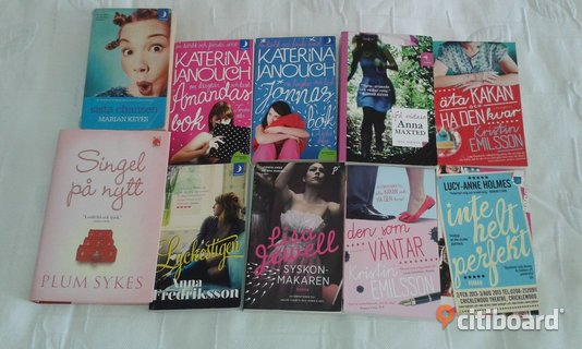 Böcker Humor chick lit 10 st, bokpaket, bok,pocket,Keyes,Maxted,Jewell mm Vallentuna