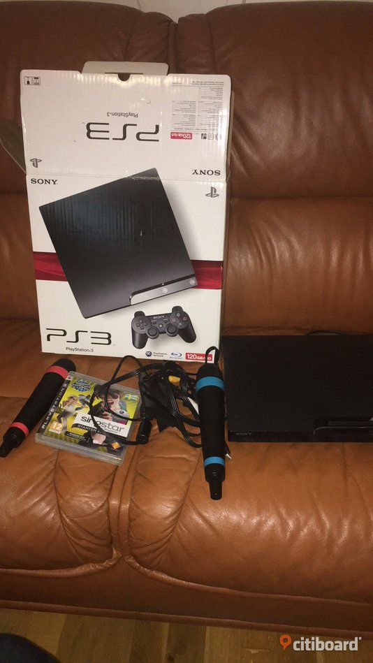 Playstation 3 med singstar kit