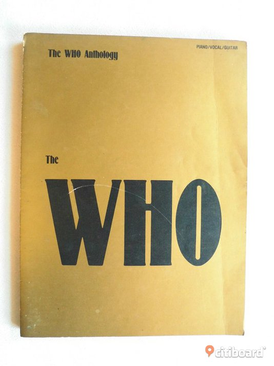 The Who. Anthology. US Not/Text-bok. 1981.  Eslöv