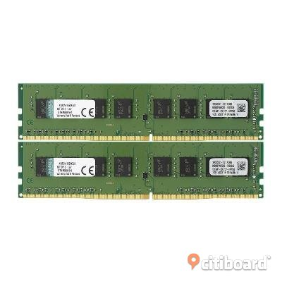 Kingston Value DDR4 2133MHz 2X 4GB Falun / Borlänge