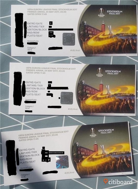 3 tickets Europa League FINAL Manchester United - Ajax Amsterdam