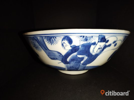 19th century Chinese kangxi bowl Gotland