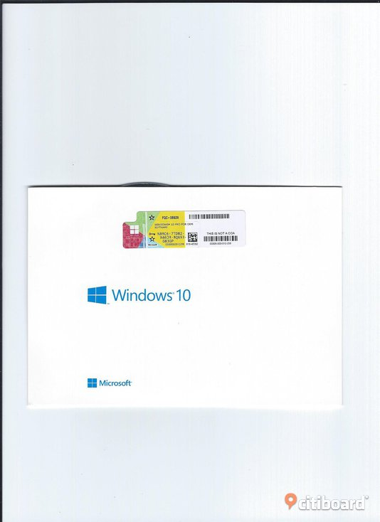 Windows Pro 10 64bitars Engelsk version.