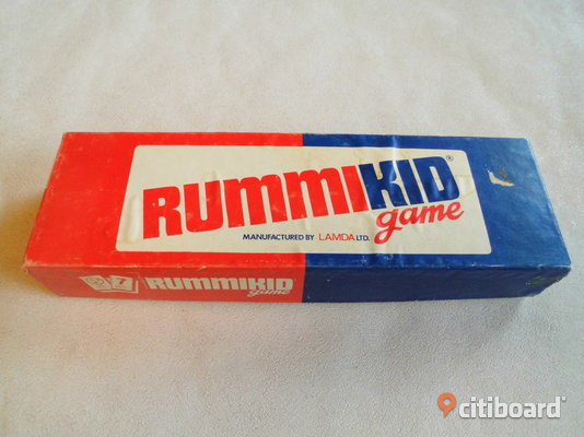Rummikid Game. Äldre Siffer-spel. Made in Israel. 1973. Eslöv
