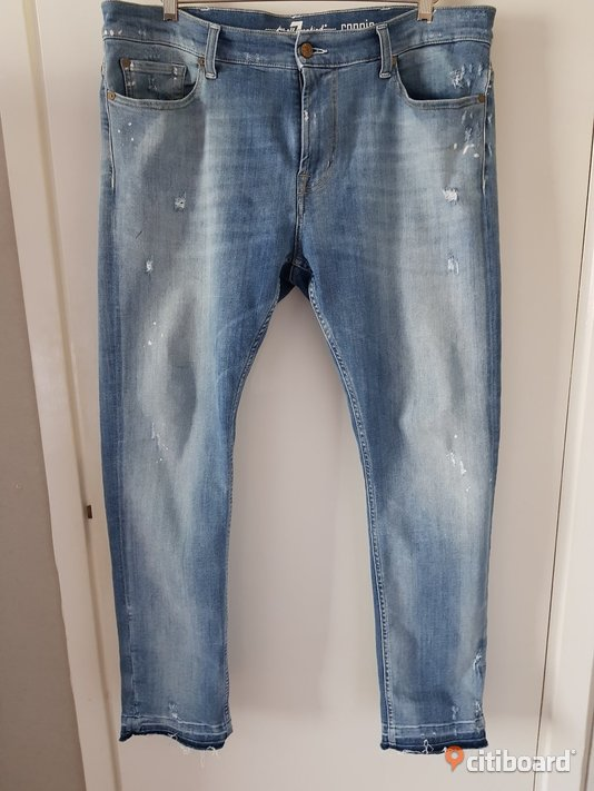 PREMIUM Denim 7 For All Mankind - Jeans - Slim Fit - Made in Italy - Ord.pris: 2.495 kr Midja 36-38 tum Mjölby Sälj