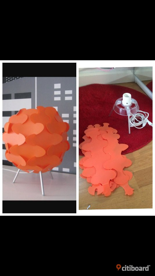 Orange ikea lampa Alingsås