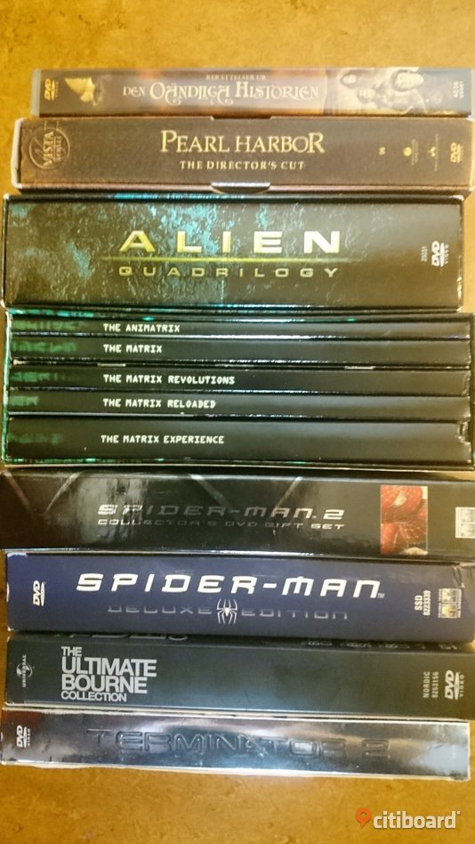 DVD: Alien box, Matrix box, Spiderman mm Sundsvall Sälj