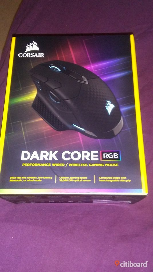Corsair Gaming Dark Core RGB Wireless Mouse,splitterny i kartong-pris på netonet 949:- Umeå