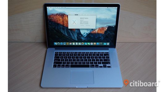Apple MacBook Pro 15,4 '' 2, 8GHz 16Gb med Applecare Stockholm