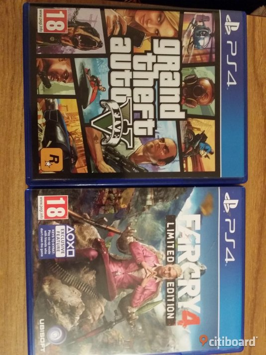 Gta 5, far cry 4 limited edition! Eksjö Sälj