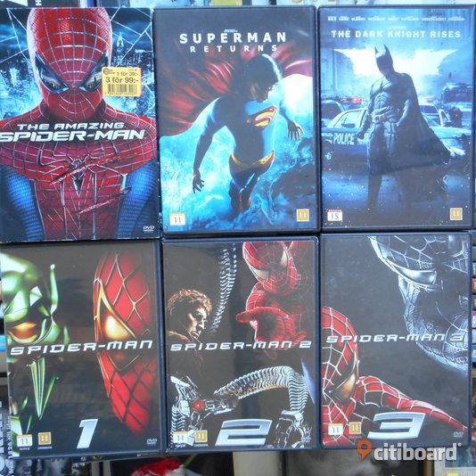 DVD FILM PAKET Spiderman Superman Batman Fritid & Hobby Sollentuna