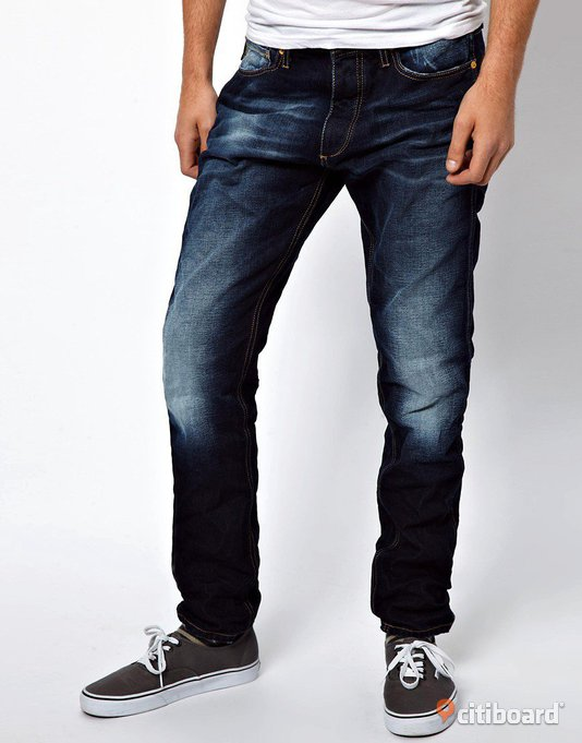 *REA* JACK & JONES ERIK ORIGINAL ANTI FIT JEANS NYA STL30/32 Midja 30-31 tum Malmö
