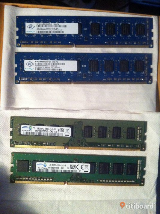 16Gb Minne 4x4 Gb 240 pin DDR3