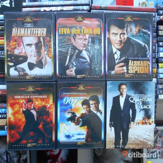 DVD FILM PAKET James Bond, med 6 DVD Musik, Film & Spel Stockholm Sollentuna